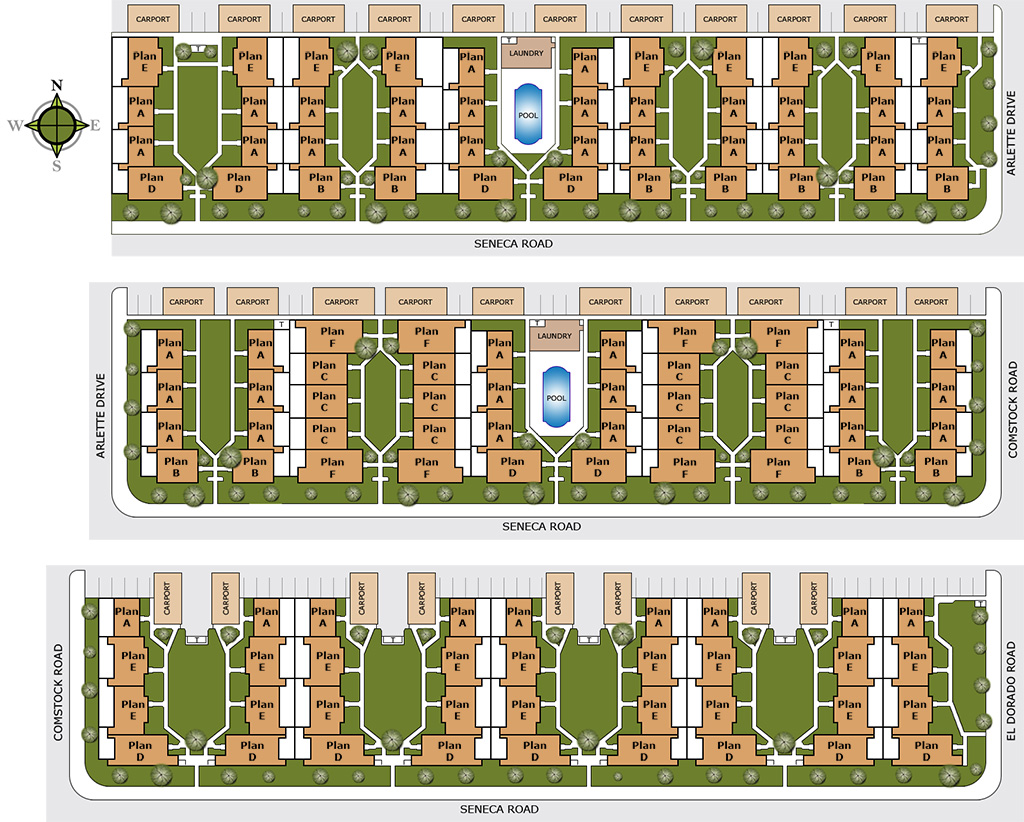 Gold west apartments site plan for Apartment site plan